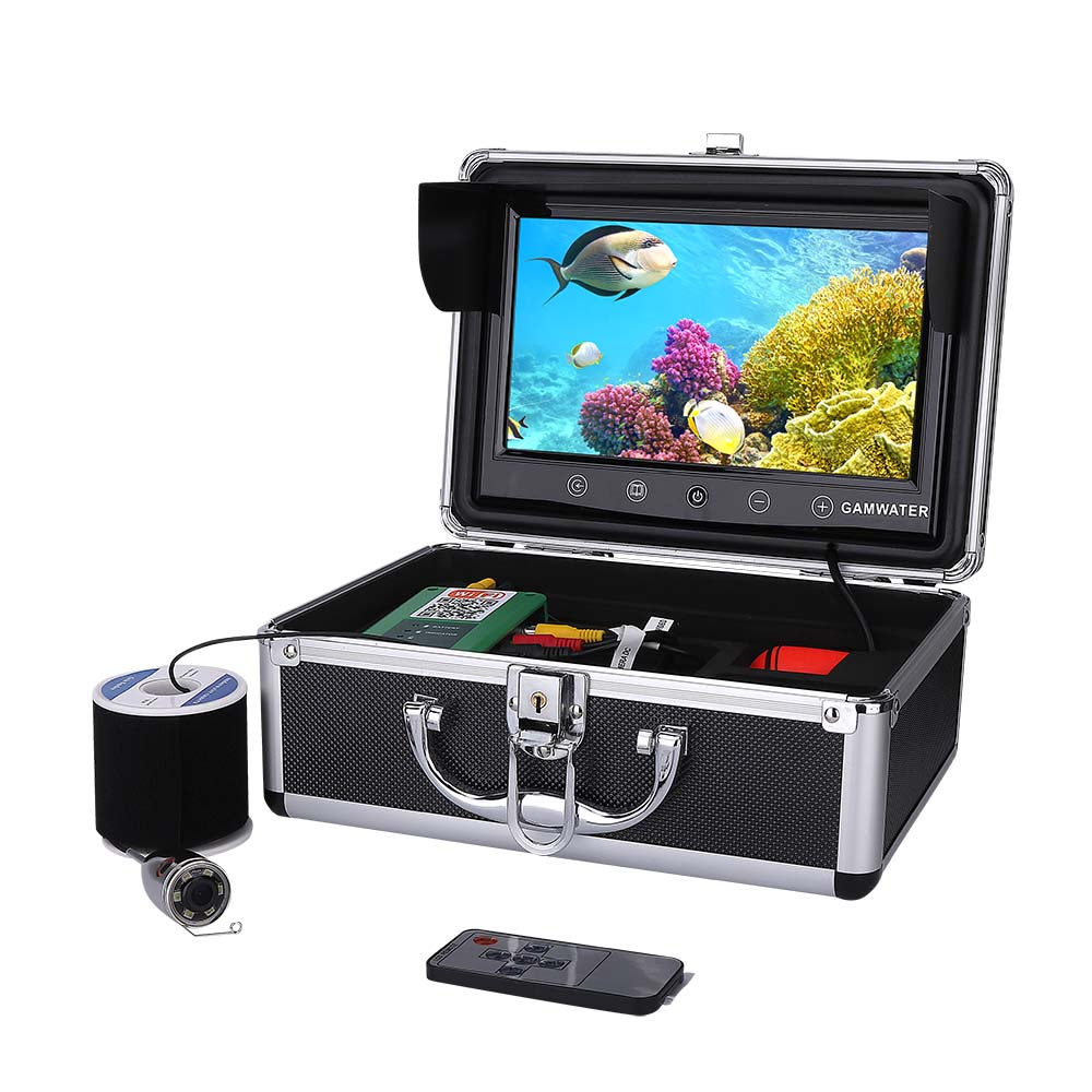 10 Inch Color 720P 1000tvl Underwater Fishing Video Camera Kit Fishfinder App Viewing for iOS and Android Supports Video Record10 Inch Color 720P 1000tvl Underwater Fishing Video Camera Kit Fishfinder App Viewing for iOS and Android Supports Video Record