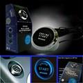 Confiável Moda 12 V Car Engine Start Botão Interruptor de Ignição Starter Kit LED Azul Ap8 dropshipping