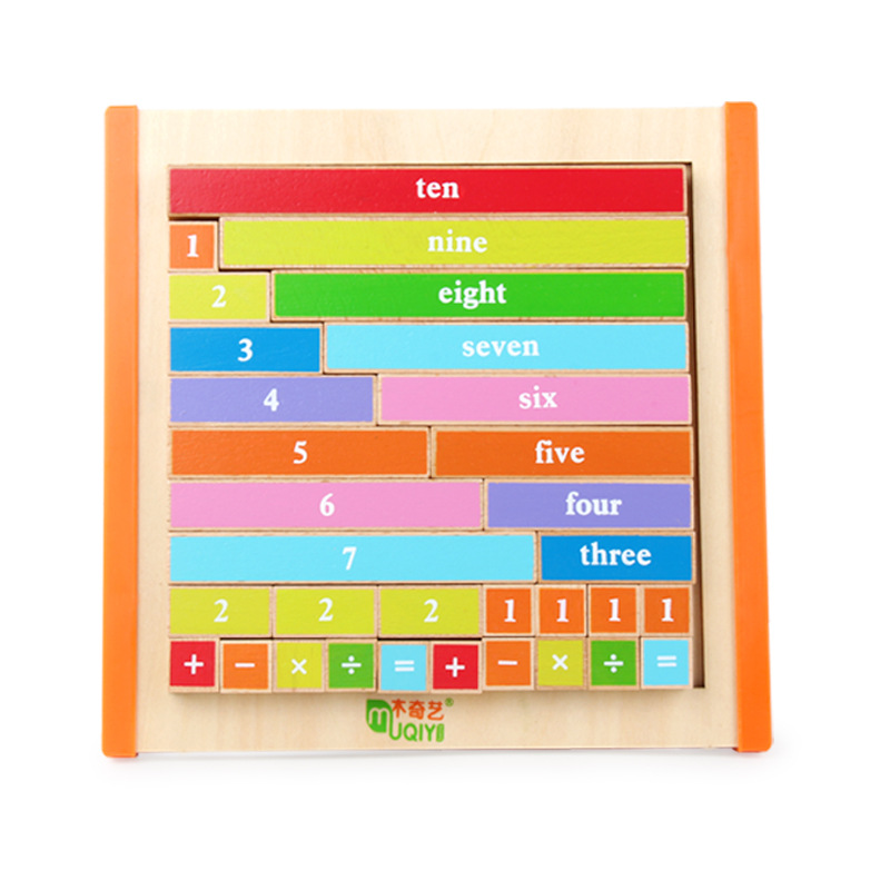 Newest Montessori Education Wooden Toys 1-10 Digit Cognitive Math Toy Teaching Logarithm Version Kid Early Learning Digit box
