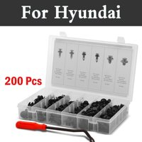 200pcs Set Auto Clips Assortment And Fastener Universally Rivets Case For Hyundai Coupe Dynasty Elantra Equus Genesis Veloster