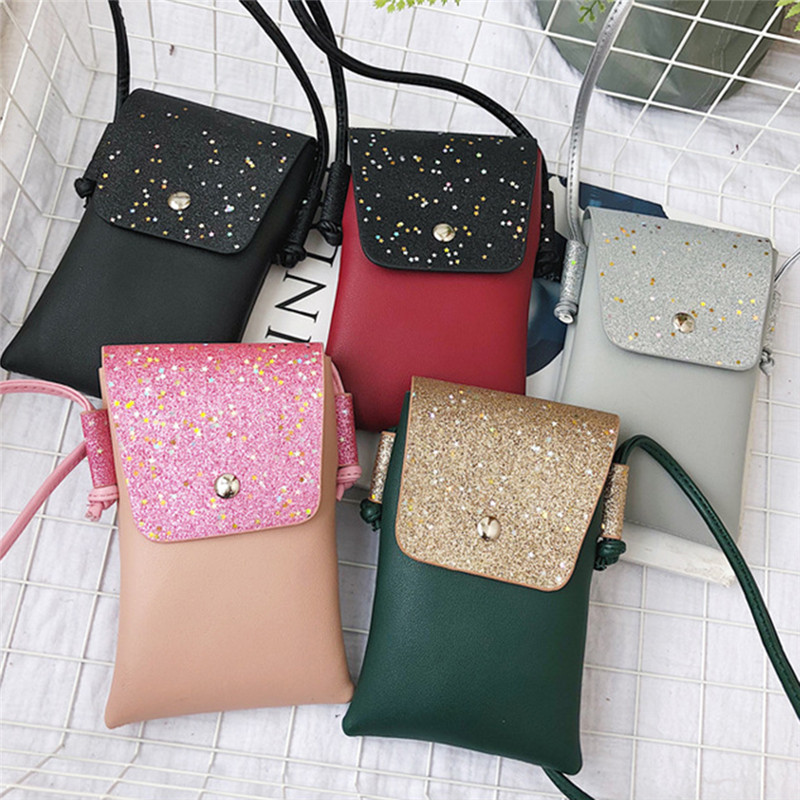 Ladies Casual Sequins Small Bag Mobile Phone Bag Multi-purpose Use Small Bag 2019 New