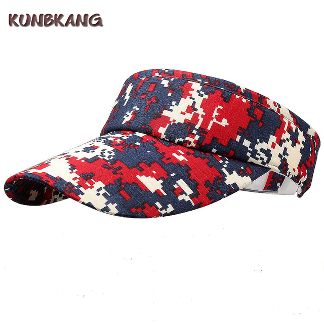 d840eaa7006 2017 New Fashion Summer Visor Cap Outdoor Camouflage Snapback Baseball Cap  Men Women Sports Visor Sun