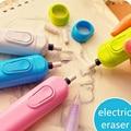 Goma de retrato de la batería operado de borrador eléctrico goma automática goma de borrar la escuela suministros papelería regalo material escolar
