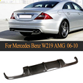 CLS класс углеродного волокна диффузор  губа на задний бампер для Mercedes Benz W219 CLS63 AMG седан 4 двери только 2006-2010