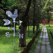 120cm Vintage Rooster Weather Vane Metal Iron Wind Speed Spinner Direction Indicator Garden Ornament Decoration Patio