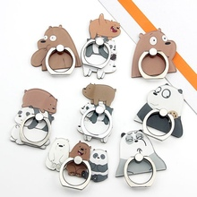 UVR  Mobile Phone Stand Holder Cartoon Beauty Lady Finger Ring Smartphone Cute Animal Bear Panda For All