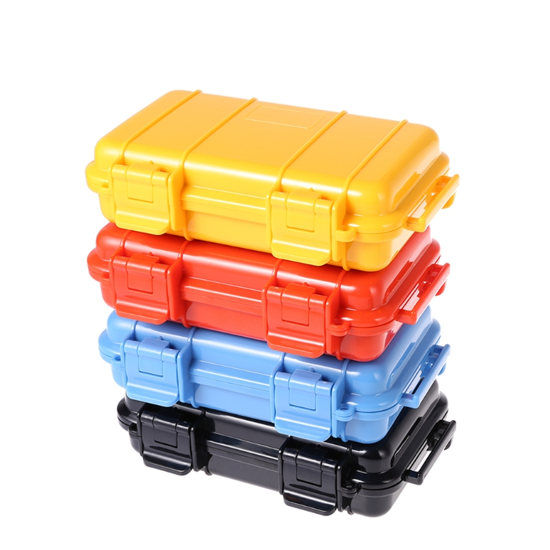 4 Color Camping EDC Shockproof Waterproof Box Safety Survival Aid Storage Case Container S L