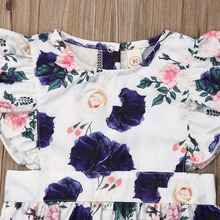 Summer Sister Matching Flutter Sleeve Romper Dresses Outfit