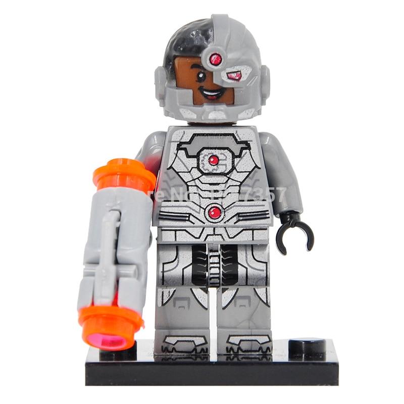 DC Super Heroes Cyborg Victor Stone Vic Single Sale Building Blocks Sets Model Toys For Children XH174