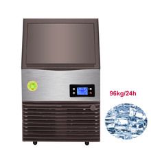 Jamielin Commercial Automatic Fresh Ice Maker 96kg/24H Square Ice Cube Making Machine Family Filter ice Maker
