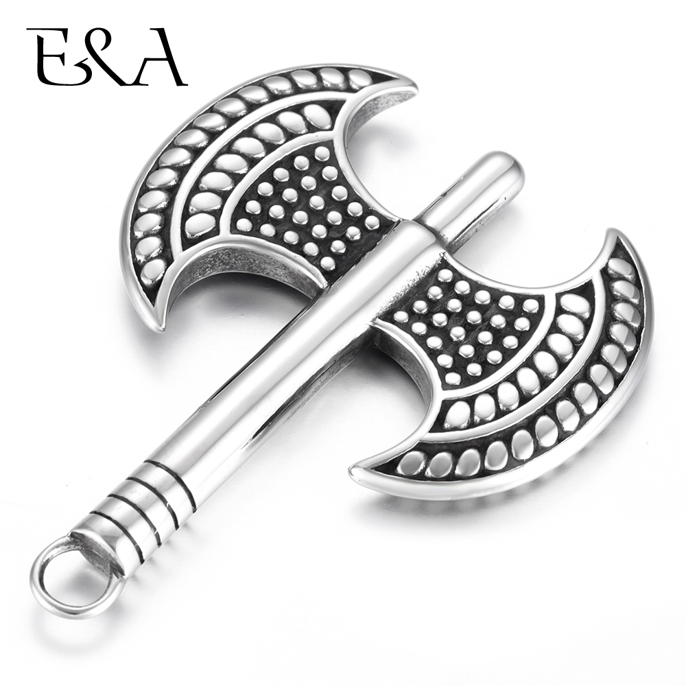 Stainless Steel Bladebone Double Axe Pendant for Necklace Bracelet Hooks DIY Accessories Findings Jewelry Making Charms Supplies in Pendants from Jewelry Accessories