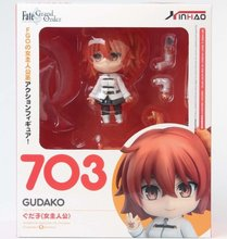 Fate Grand Order Gudako Anime Action figure Model Toys Q Version Nendoroid 703# PVC Collection Dolls nendoroid fate grand order saber altria pendragon 600 pvc figure collection model toy 10cm kt3301