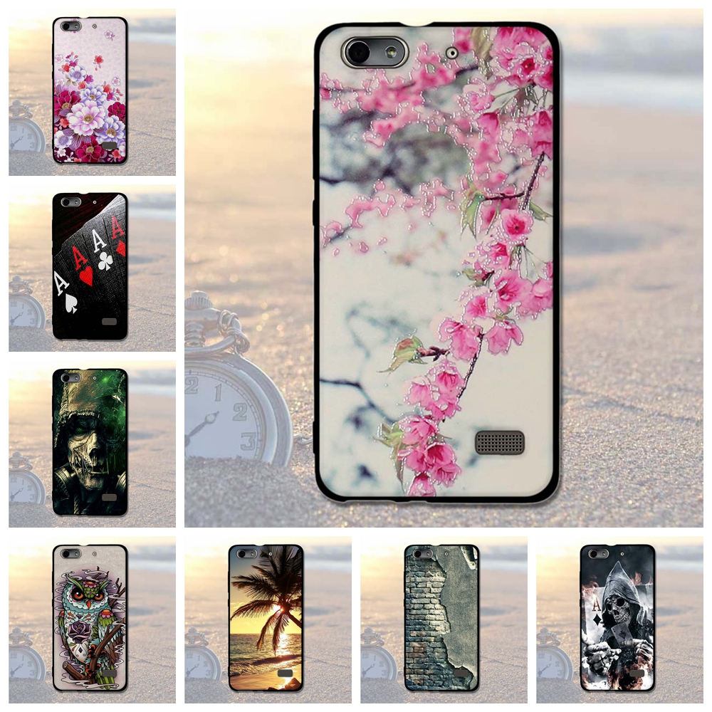 Phone Cases for Huawei Honor 4c Case Luxury Painting Coque for Huawei G Play Mini Honor 4C Cover Phone Bags For Huawei Honor 4C