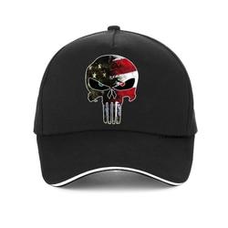 Boné sniper americano masculino da moda, chapéu de futebol ajustável estilo punisher para homens