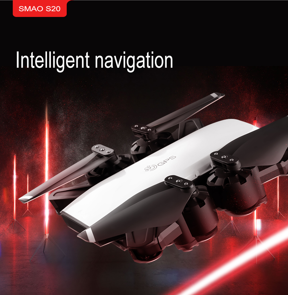 S GPS FOLLOW ME FPV RC Drone With Video 1080P HD Camera Photos Features Double Quadcopter 5MP pixel Foldable toy drone 12