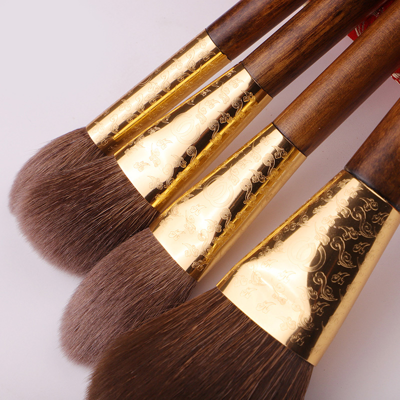 BEILI натуральная древесина грецкого ореха класс козья шерсть ласки профессиональная пудра для лица с длинной ручкой 5 ш - 3