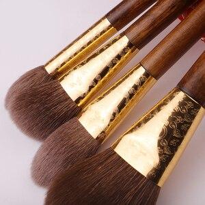 Image 3 - MyDestiny Lüks Geleneksel Fırça Seti 13 Fırçalar Süper Yumuşak Avustralya Sincap Saç Yüz Göz Fırçaları Güzellik Makyaj Araçları