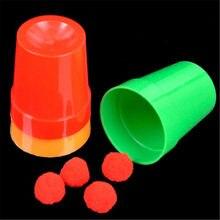 3 unids/set taza mágica trucos de ilusión mentalismo camionero de magia juguete para niños tazas y bolas de magia profesional truco de mago close up