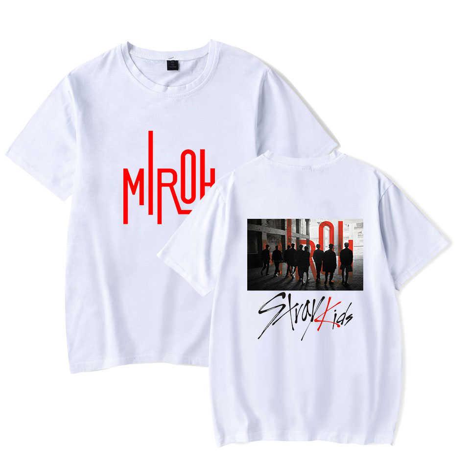 Stray Kids Album MIROH Short Sleeve T shirt Harajuku Clothes