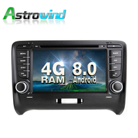 4G RAM Android 8.0 Car GPS Navigation System DVD Player Radio Audio Video Stereo Media For Audi TT Support OBD2 DAB+ DVR TPMS