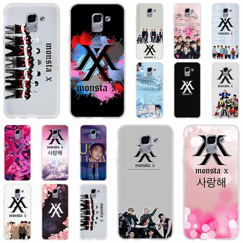 <font><b>KPOP</b></font> K.A.R.D MONSTA X NCT 127 For Phone Case <font><b>Samsung</b></font> Galaxy <font><b>j6</b></font> J8 J7 J5 J3 J4 <font><b>Plus</b></font> 2018 2017 2016 J610 Prime Soft Silicone <font><b>Coque</b></font> image