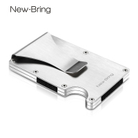 NewBring Slim Metal Credit Card Holder With RFID Anti Chief Travel Mini Wallet Man