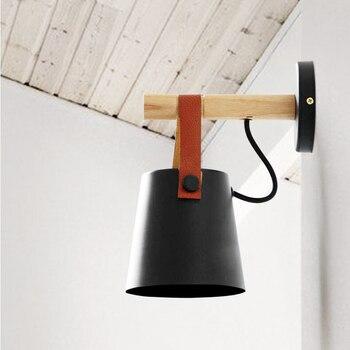 กำแพงไฟ Sconces สำหรับบ้าน 220v โคมไฟผนังสีดำโมเดิร์นโคมไฟในร่ม Led Light Wandlamp