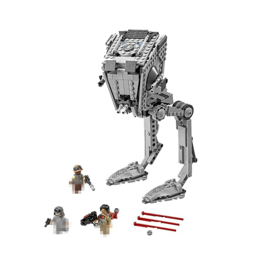 Lis 05052 Star Series Wars The Empire AT-ST Robot Mobile Building Block 1136Pcs Brick Compatible With legoINGLYS 75153 mobile robot motion planning