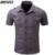 Camisa Dos Homens de Manga curta Turn-down Collar Único Breasted Moda Casual Masculino Blusa de Alta Qualidade de Algodão Chemise Homme MXB0348