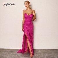 Joyfunear New Sexy Women Summer Dress 2018 Backless Bodycon Retro Maxi Dress Elegant V Neck Long Dresses Party Vestidos