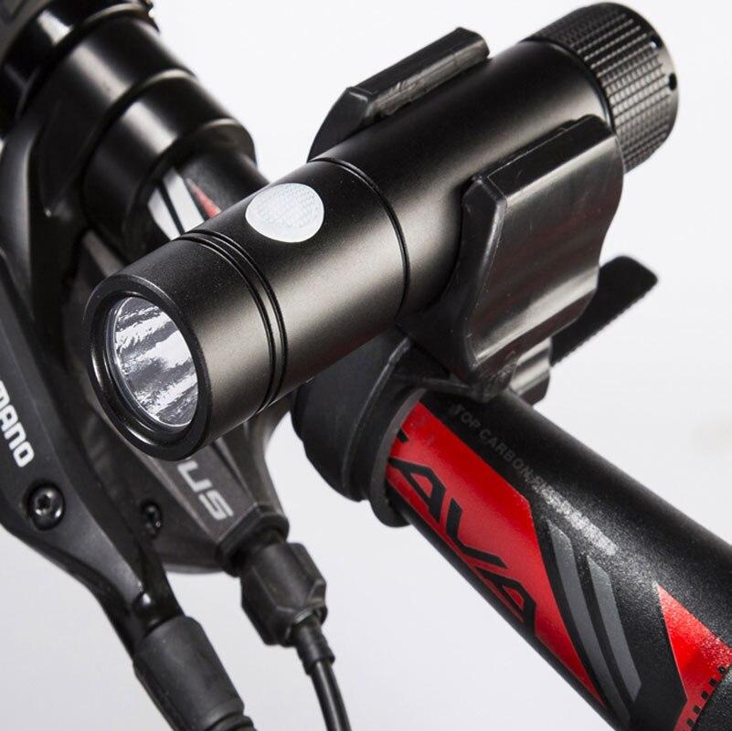 600 USB Rechargeable Waterproof Bike Cycling Light Front Flashlight GACIRON V9F
