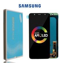 SÜPER AMOLED samsung LCD Galaxy A6 2018 Ekran A600F dokunmatik ekran digitizer Paneli Meclisi A6 Artı A6050 LCD A6050F Ekran