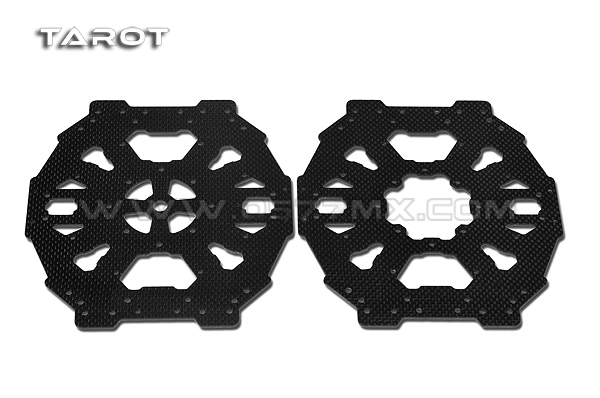 Tarot 650 four-axis carbon fiber upper and lower cover for FY680/FY650 Quadcopter Hexacopter TL65B04 tarot tl68b14 6 axis aircraft hexcopter fy680 fy650 inverted battery rack ship with tracking number