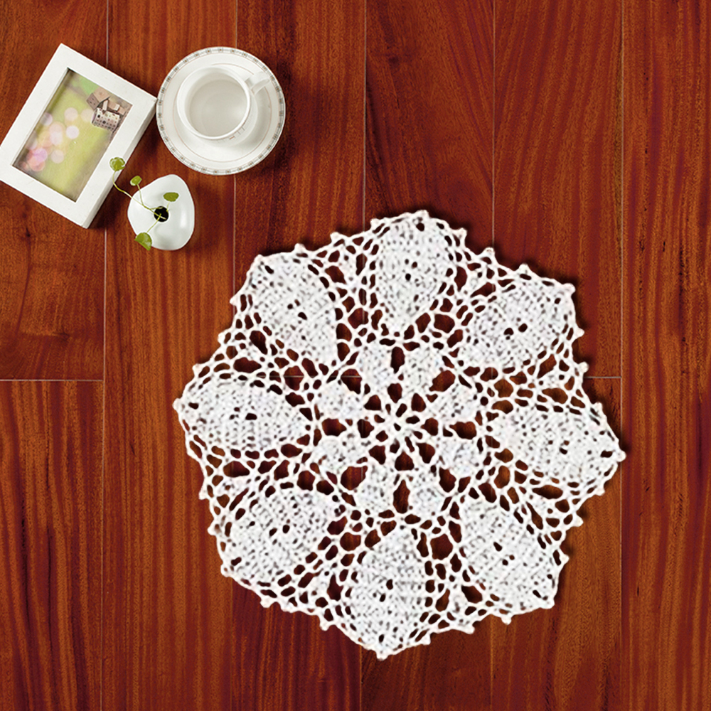 Yazi 4pcs placemat handmade cotton hollow floral coasters round yazi 4pcs placemat handmade cotton hollow floral coasters round doily cup pads crochet table mat doilies 25cm in mats pads from home garden on bankloansurffo Image collections