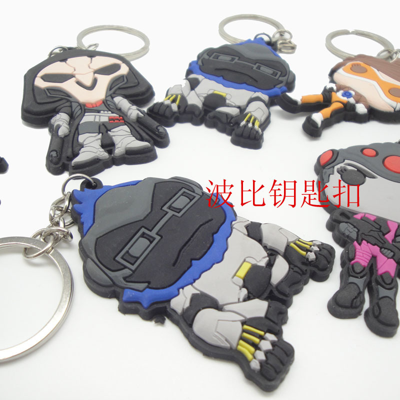 2017 New Fund Sell Like Hot Cakes 6.5CM Cartoon Network GameCharacters Key Chain Ow Death Holiday Gift Car Keys Widgets Ornament