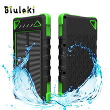 15000mAH External Solar Powerbank Charger Battery Pack Box For Mobile Phone Iphone Xiaomi Samsung All Device Dual Usb Power Bank