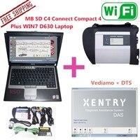 2017.12 MB SD Conecta el ACUERDO C4 4 Plus WIN7 Ordenador Portátil D630 instalar Ya estrella diagnóstico compacto 4 Mb estrella C4 Con El Ordenador d630