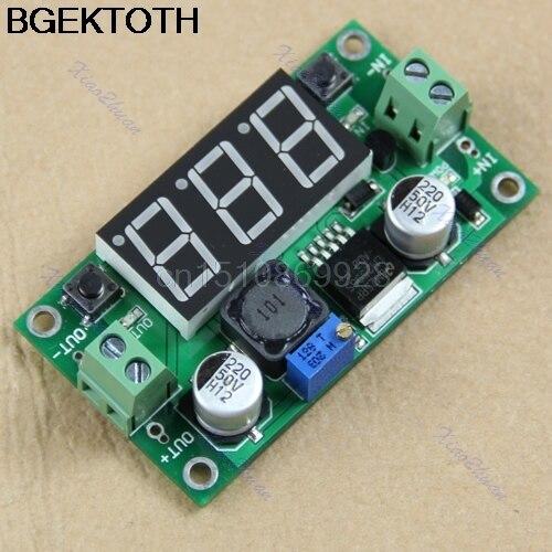 DC-DC LM2596 Напряжение регулятор + <font><b>LED</b></font> вольтметр Buck шаг Подпушка модуль преобразователя
