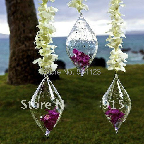 Amazing Wedding Flower Vase Terrarium Hanging Teardrop Glass Vase Party  Decor Dia H Cm With How To Make A Hanging Glass Terrarium