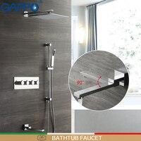 GAPPO смеситель для душа s Ванна смеситель для душа наборы душа осадков краны ванная, насадка для душа водопад наборы системы Смесители для ван