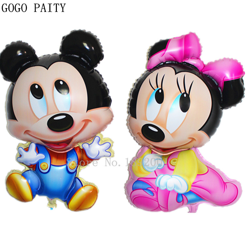 GOGO PAITY  1pcs new aluminum-dimensional Mickey Minnie childrens toys balloon balloons birthday party decoration wholesale