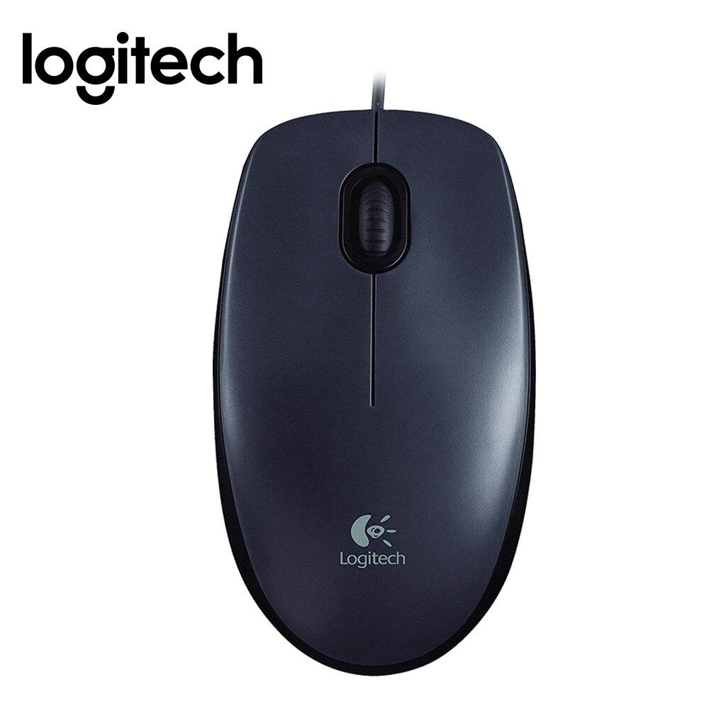 Logitech M90 1000DPI Wired USB Optical Mouse Ergonomic design laptop PC Wired Mice