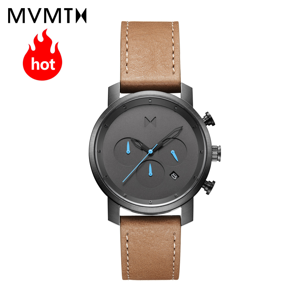 цены MVMT watch|Official website Authorized Genuine fashion students men's watch with leather watchband / steel watchband watch 40mmd