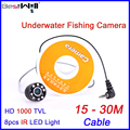 BESTWILL Original Underwater Fishing Camera Video Fish Finder Ice Fishing Camera 6H with 15-30M Cable HD 1000 TVL