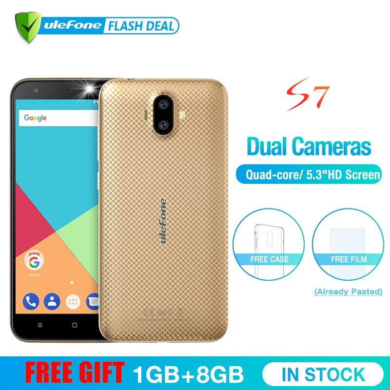 Ulefone S7 1 GB RAM + 8 GB ROM Smartphones 5.0 polegada IPS HD de Tela Android 7.0 Dual Camera 3G telefone móvel