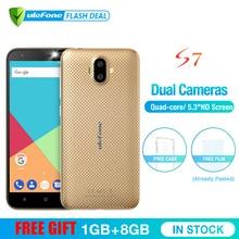 Ulefone S7 1 GB RAM + 8 GB ROM Smartphone 5.0 inç IPS HD Ekran Android 7.0 Çift Kamera 3G cep telefonu