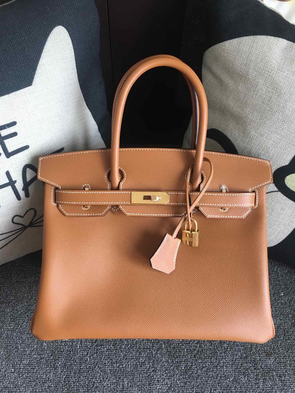 Die höchste qualität damen luxus mode handtaschen qualität klassische 100% leder marke berühmte damen hand made handtaschen 30 CM-in Taschen mit Griff oben aus Gepäck & Taschen bei  Gruppe 1