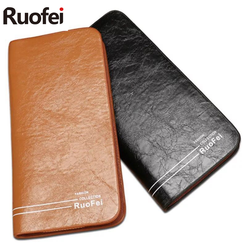 2017 Fashionable Luxury Male Leather Purse Men's Clutch Wallets Handy Bags Business Wallets Men Black Brown Dollar Price 2016 famous brand new men business brown black clutch wallets bags male real leather high capacity long wallet purses handy bags