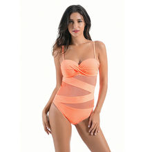 Sexy Swimwear Women One Piece Swimsuit Female Grenadine Bathing Suit Solid Color Swim Wear Monokini XXXL