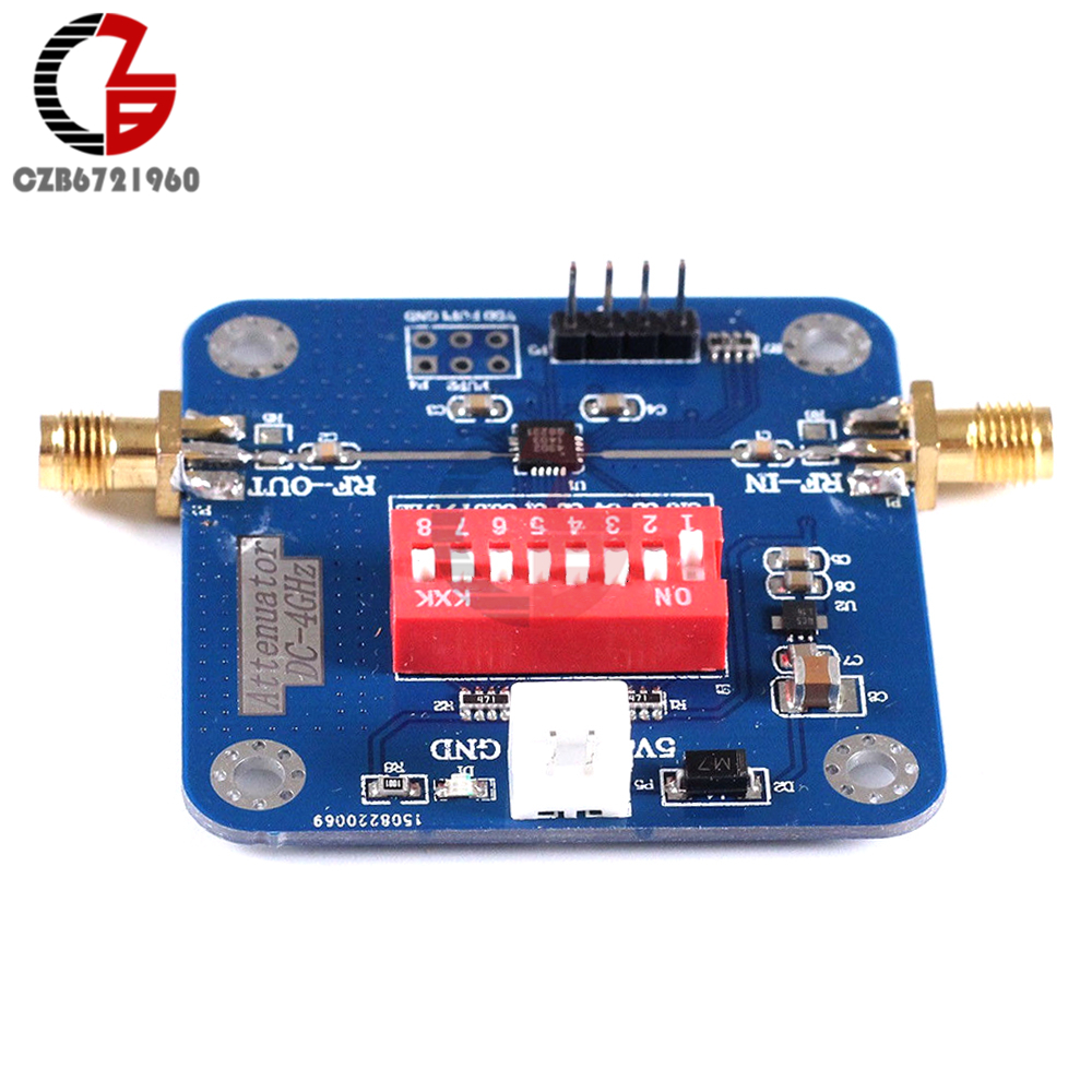 PE4302 Digital RF Step Attenuator Module High Linearity 0.5dB 50-ohm RF DSA digital radio frequency attenuator module pe43703 9k 6ghz 0 25db step to 31 75db